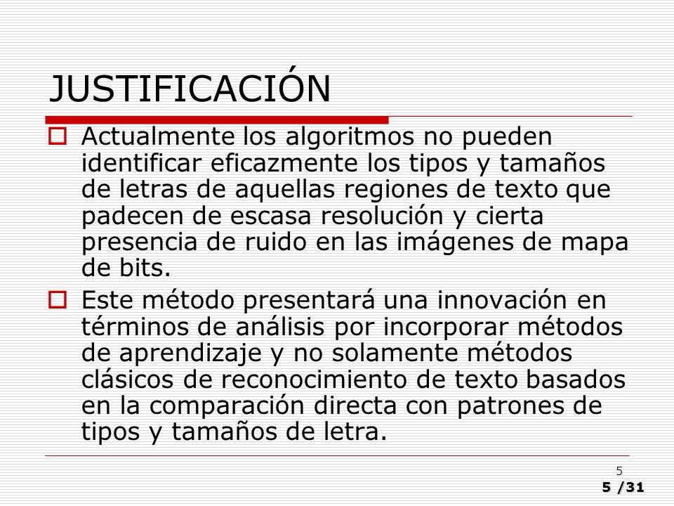 16/31 16 Población Todos lo tipos de fuente de texto, utilizados frecuentemente en medios impresos (revistas, diarios, libros).