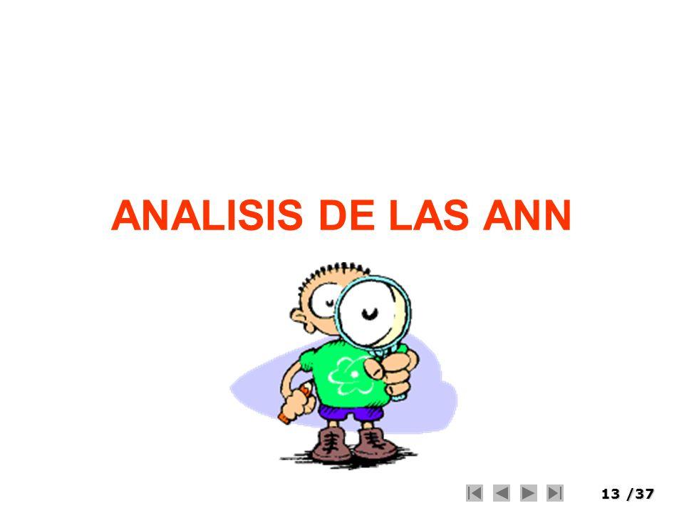 13/37 ANALISIS DE LAS ANN