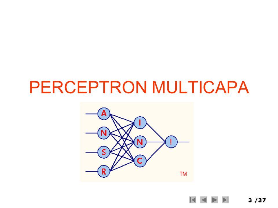 34/37 : Umbral de aprendizaje que regula la velocidad de precisión (0 < <= 1) Yi : Salida del i-esimo Nodo Yj : Salida del j-esimo Nodo dj : Valor de salida deseado de la j-esima unidad de procesamiento A.S.