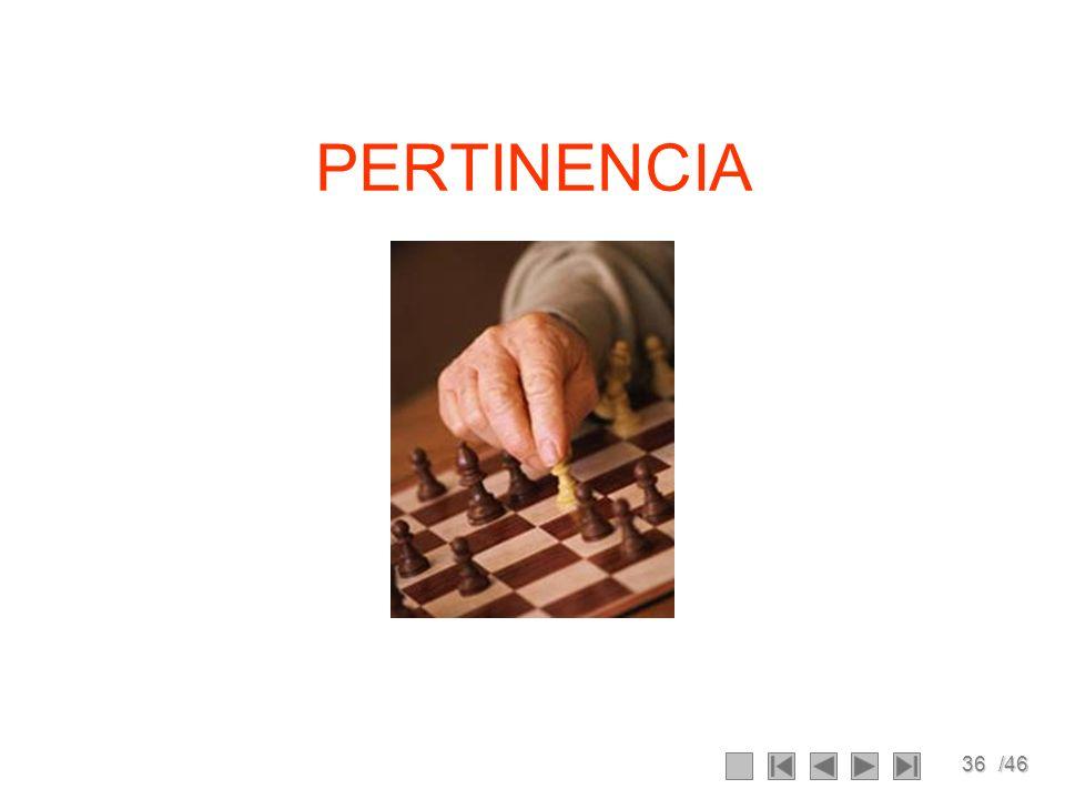36/46 PERTINENCIA