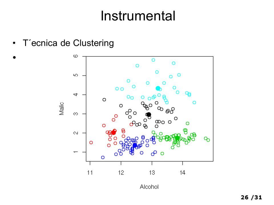 26/31 Instrumental T´ecnica de Clustering