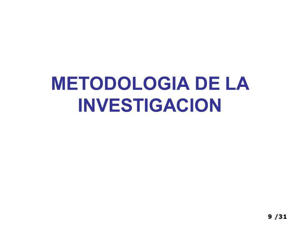 9/31 METODOLOGIA DE LA INVESTIGACION