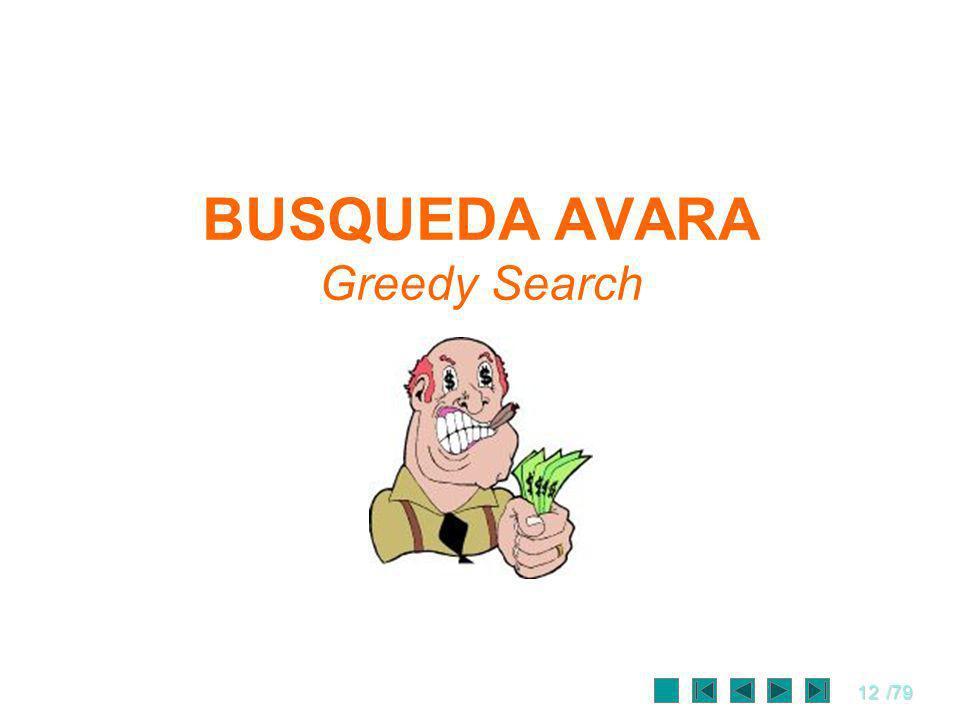 12/79 BUSQUEDA AVARA Greedy Search