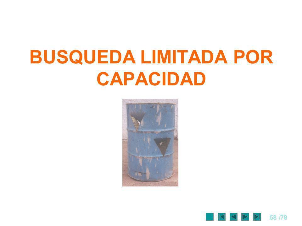 58/79 BUSQUEDA LIMITADA POR CAPACIDAD