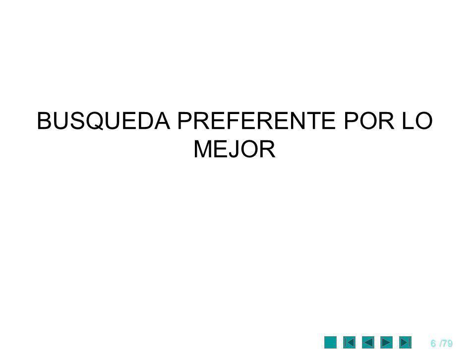 6/79 BUSQUEDA PREFERENTE POR LO MEJOR