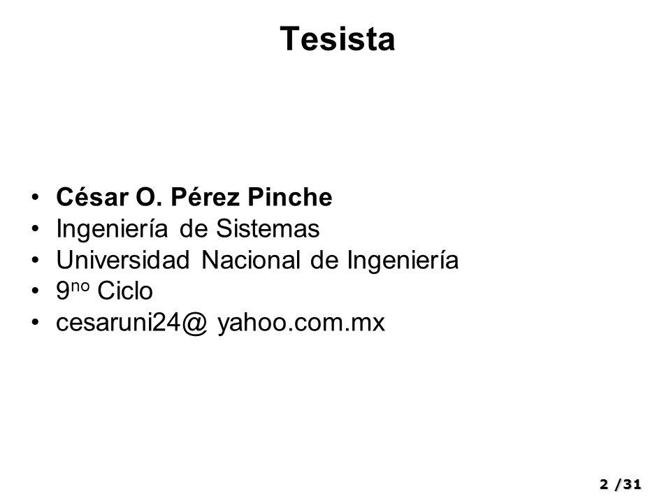 2/31 Tesista César O.