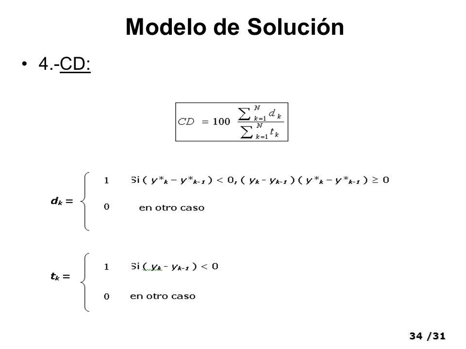 34/31 Modelo de Solución 4.-CD: