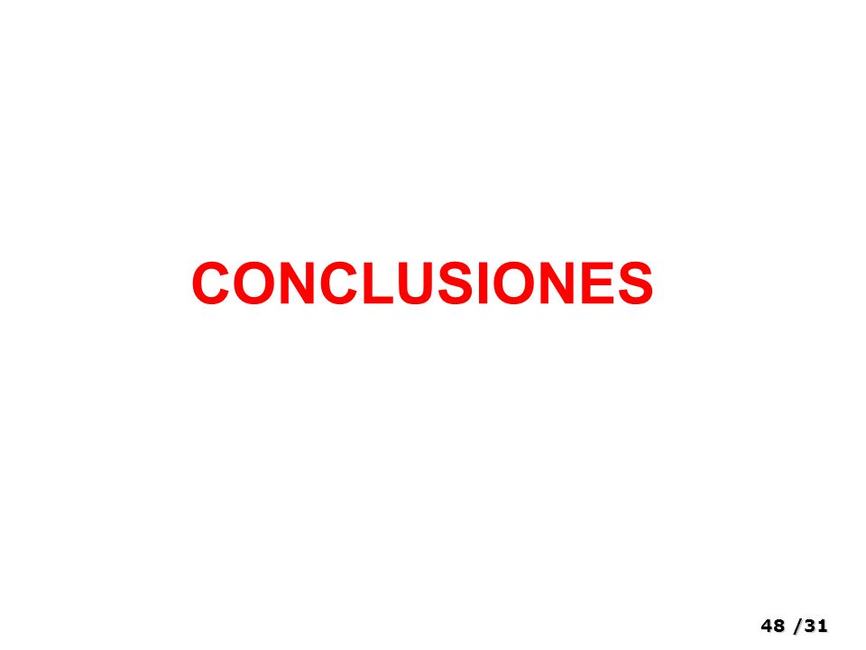 48/31 CONCLUSIONES