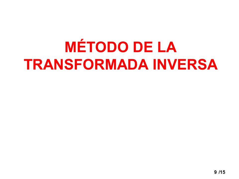 9/15 MÉTODO DE LA TRANSFORMADA INVERSA