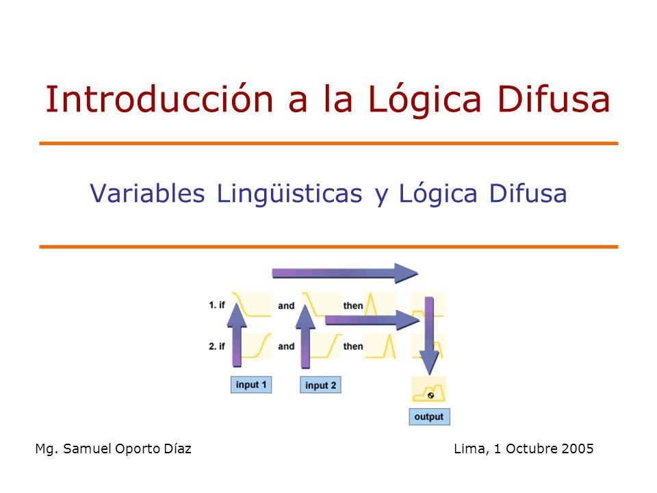 2/60 Tabla de Contenido Variables Linguisticas Modificadores Linguisticos Reglas Difusas IF-THEN Interpretación de las reglas difusas IF-THEN