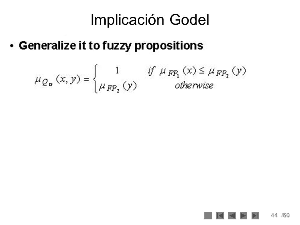 44/60 Implicación Godel