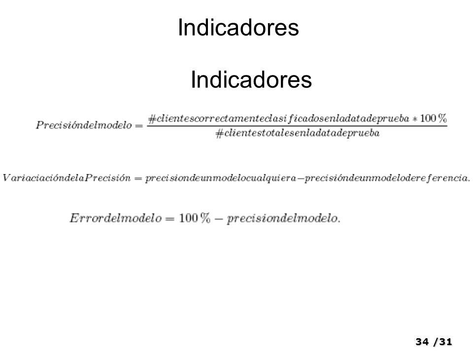 34/31 Indicadores