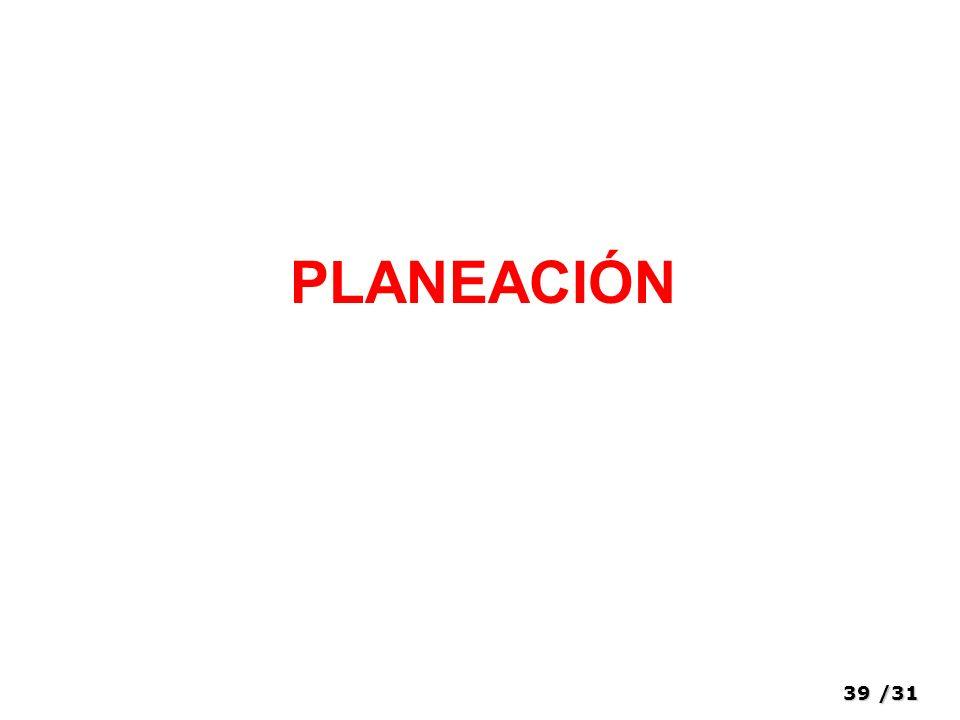 39/31 PLANEACIÓN