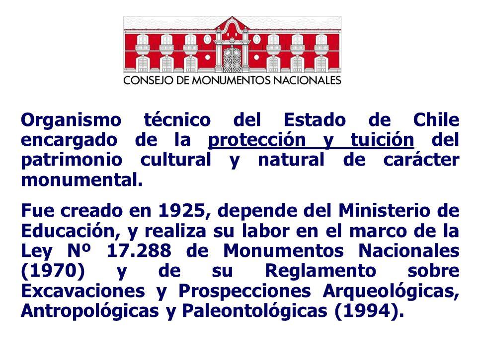 Organismo técnico del Estado de Chile encargado de la protección y tuición del patrimonio cultural y natural de carácter monumental. Fue creado en 192