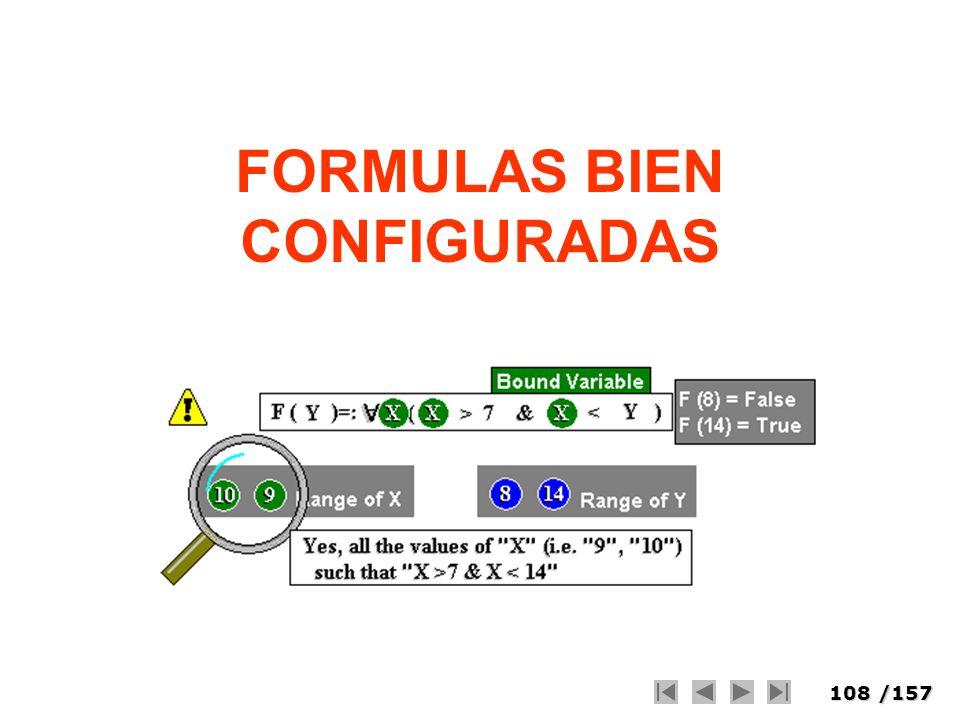 108/157 FORMULAS BIEN CONFIGURADAS