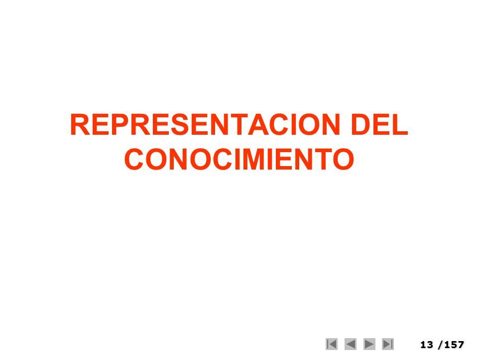 13/157 REPRESENTACION DEL CONOCIMIENTO