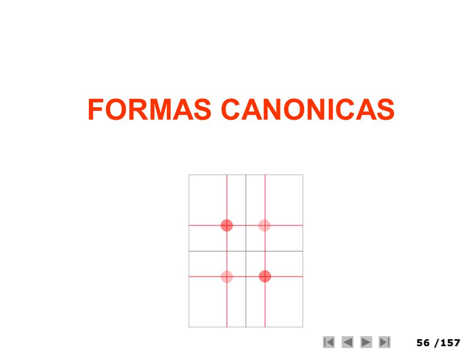 56/157 FORMAS CANONICAS