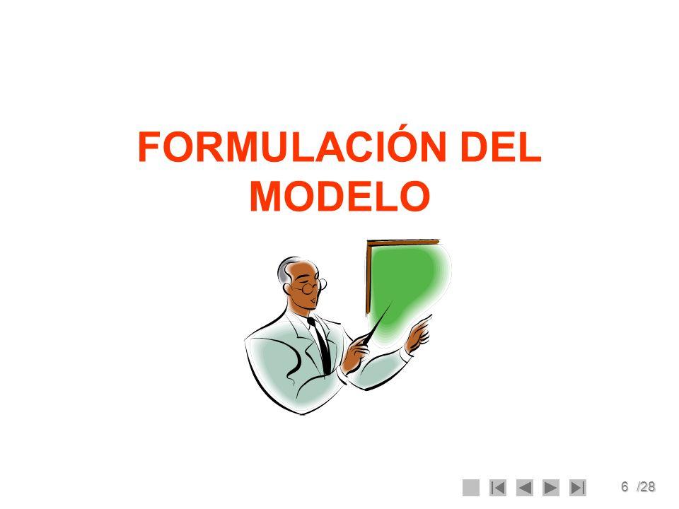 6/28 FORMULACIÓN DEL MODELO