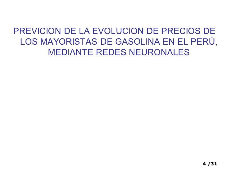 15/31 Variables Variables independientes: Modelo de pronostico Cantidad de variables a involucrar.
