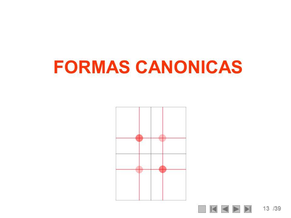 13/39 FORMAS CANONICAS