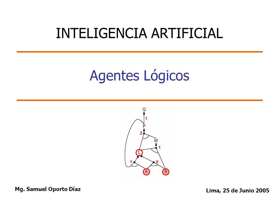 Agentes Lógicos Mg. Samuel Oporto Díaz Lima, 25 de Junio 2005 INTELIGENCIA ARTIFICIAL