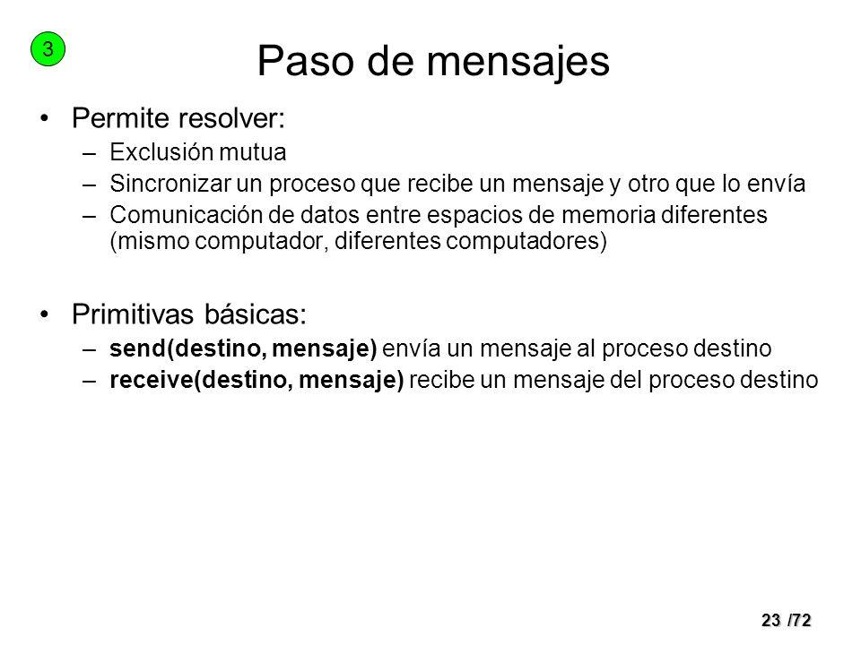 22/72 Memoria compartida Declaración independiente de variables 2