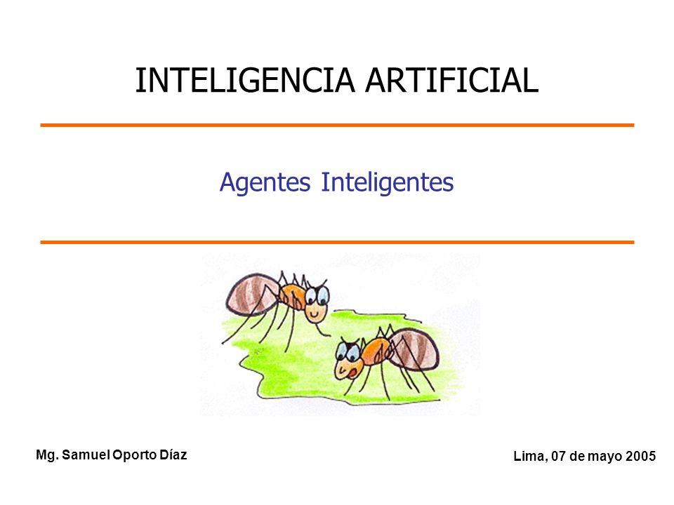 Mg. Samuel Oporto Díaz Lima, 07 de mayo 2005 Agentes Inteligentes INTELIGENCIA ARTIFICIAL