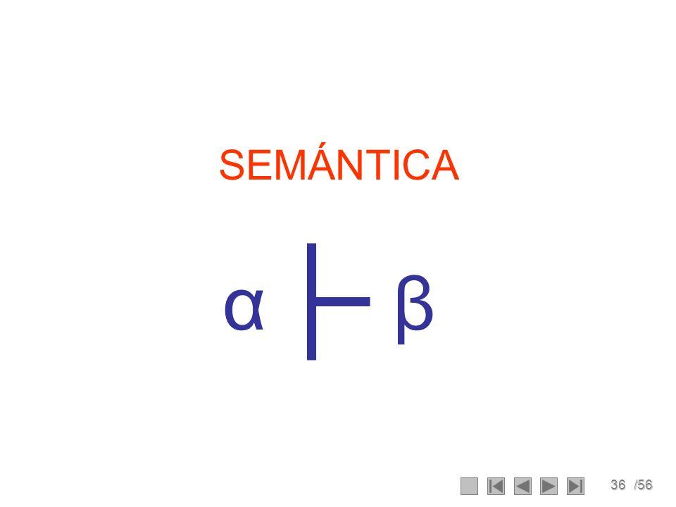 36/56 SEMÁNTICA βα