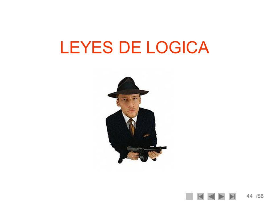 44/56 LEYES DE LOGICA