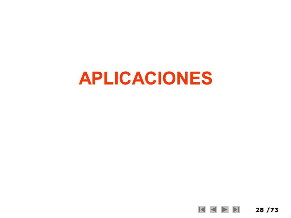 28/73 APLICACIONES