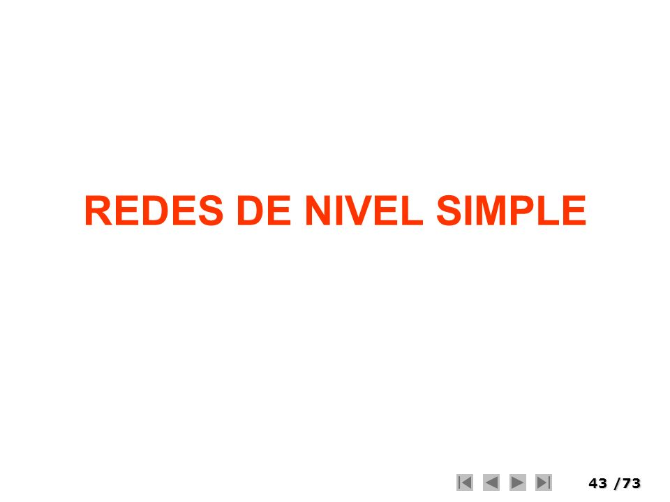 43/73 REDES DE NIVEL SIMPLE