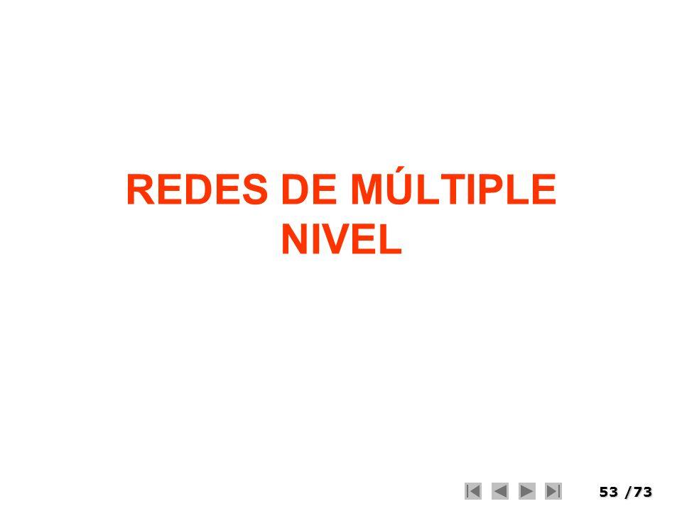 53/73 REDES DE MÚLTIPLE NIVEL
