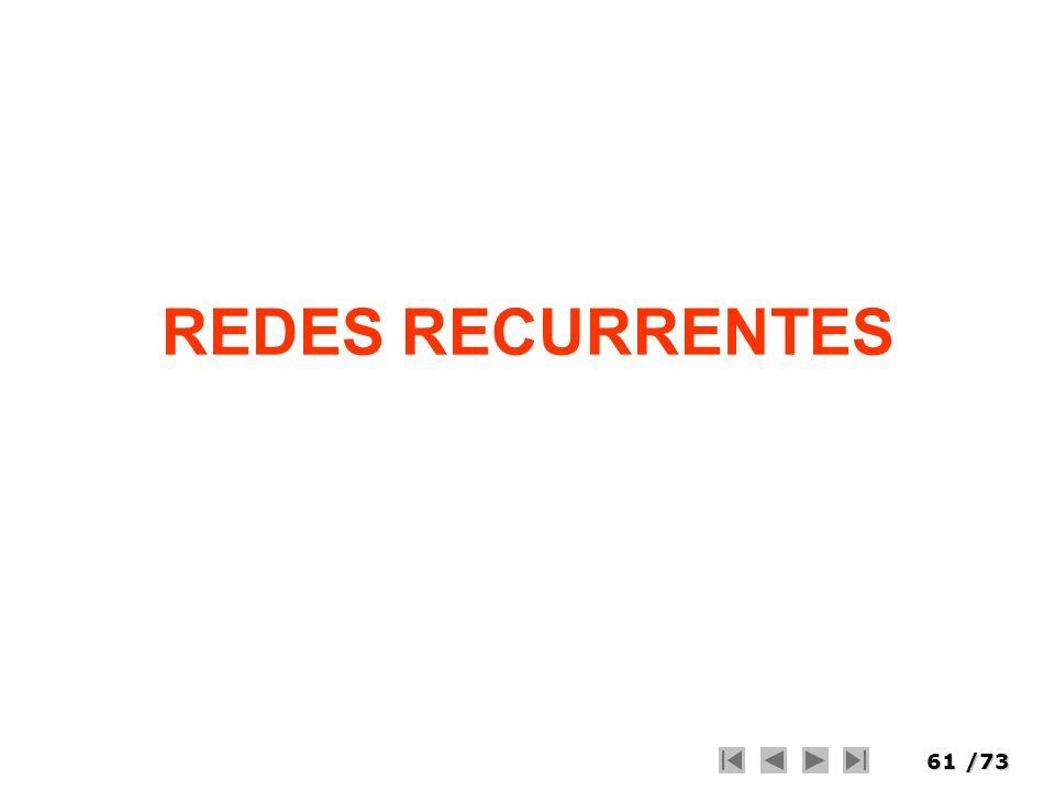 61/73 REDES RECURRENTES