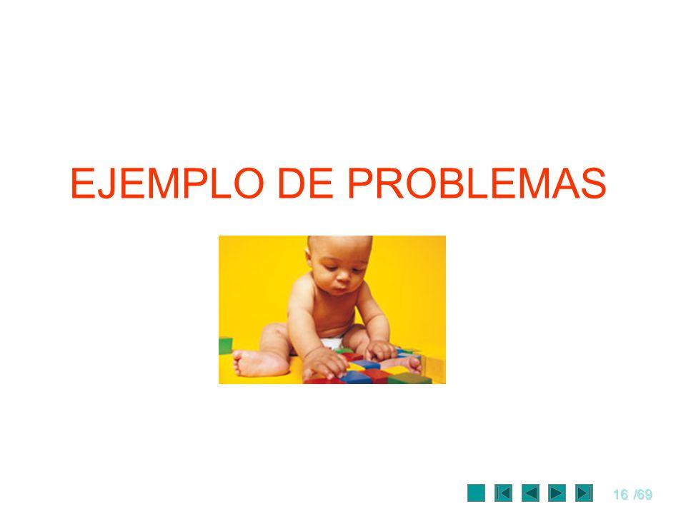 16/69 EJEMPLO DE PROBLEMAS