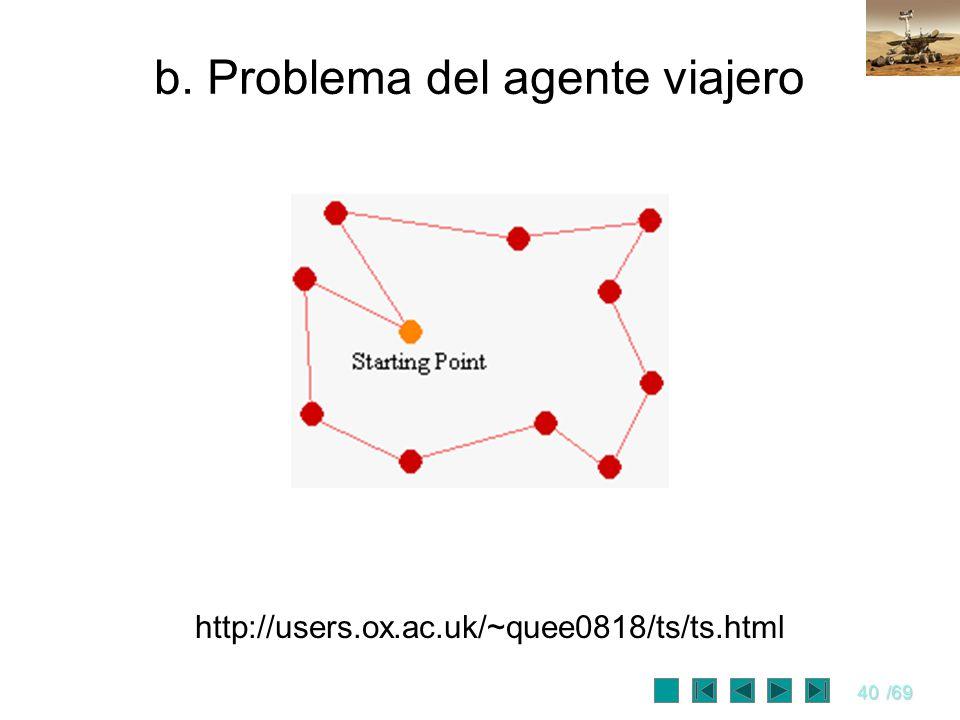 40/69 b. Problema del agente viajero http://users.ox.ac.uk/~quee0818/ts/ts.html