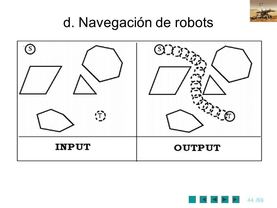 44/69 d. Navegación de robots