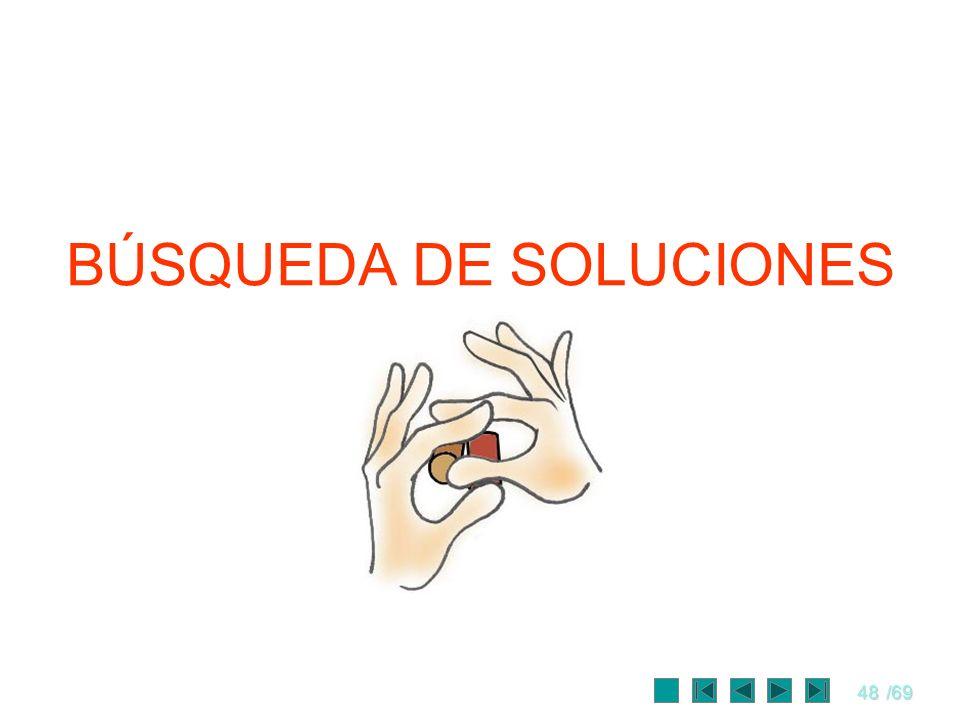 48/69 BÚSQUEDA DE SOLUCIONES