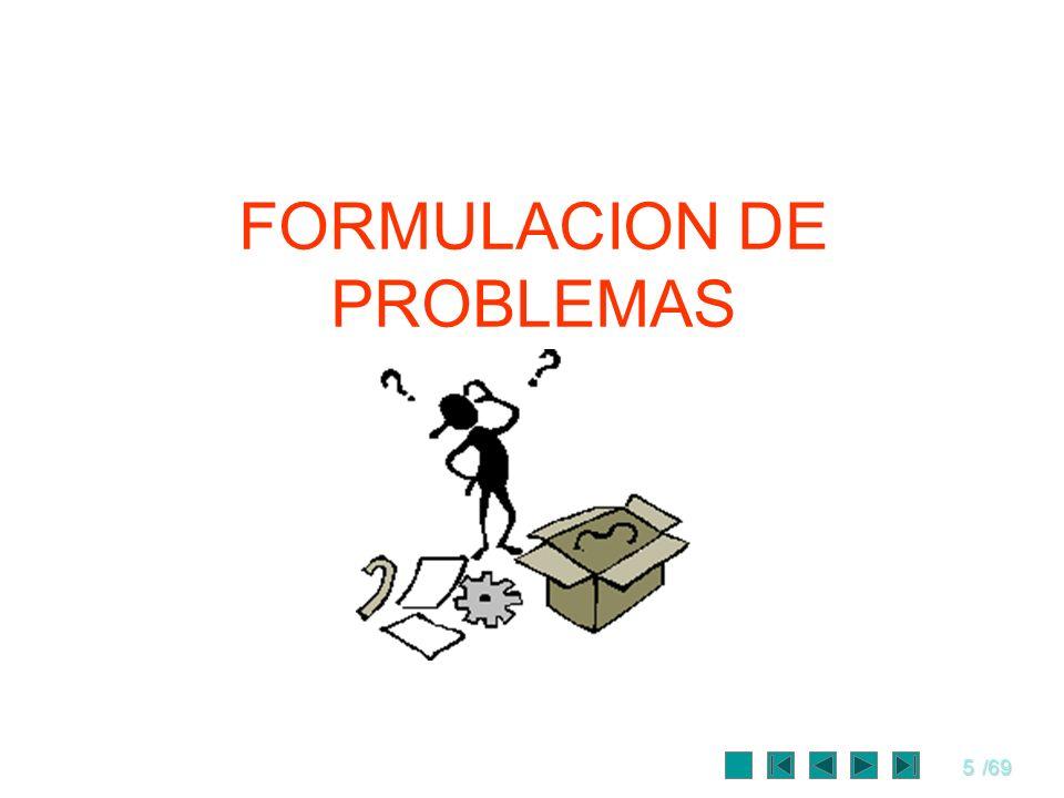 5/69 FORMULACION DE PROBLEMAS