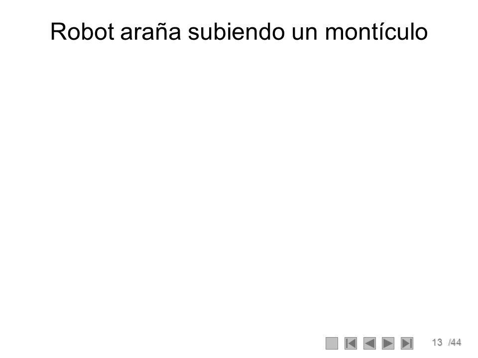 13/44 Robot araña subiendo un montículo