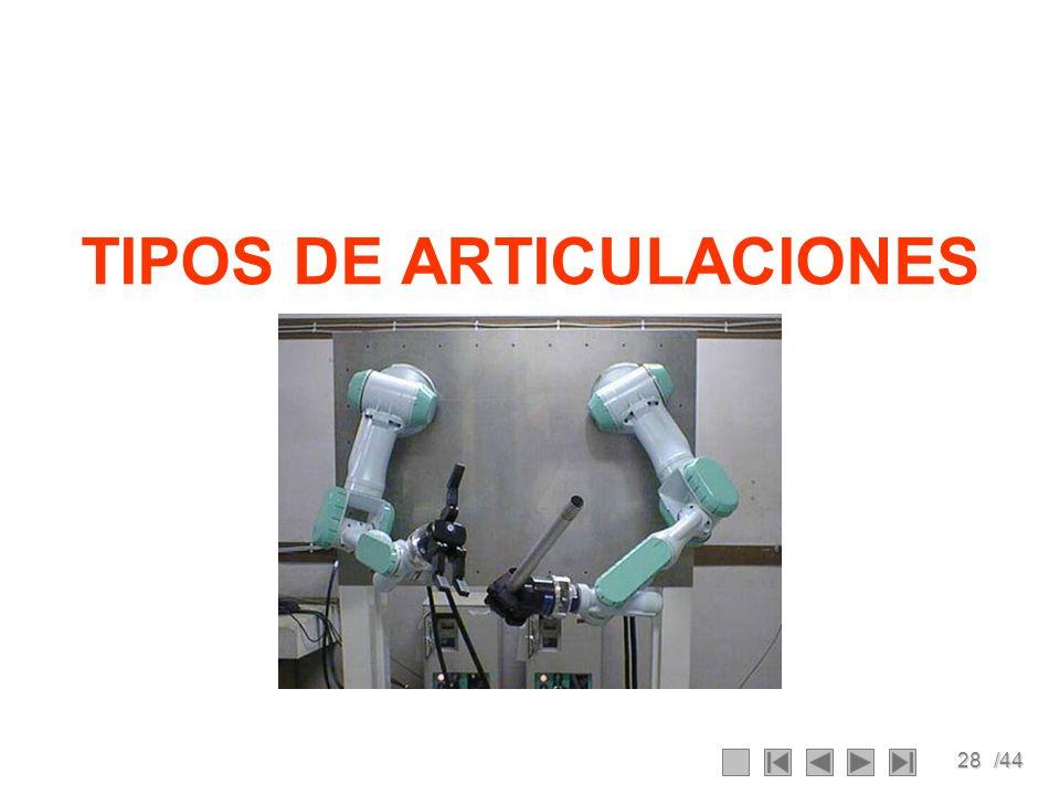 28/44 TIPOS DE ARTICULACIONES