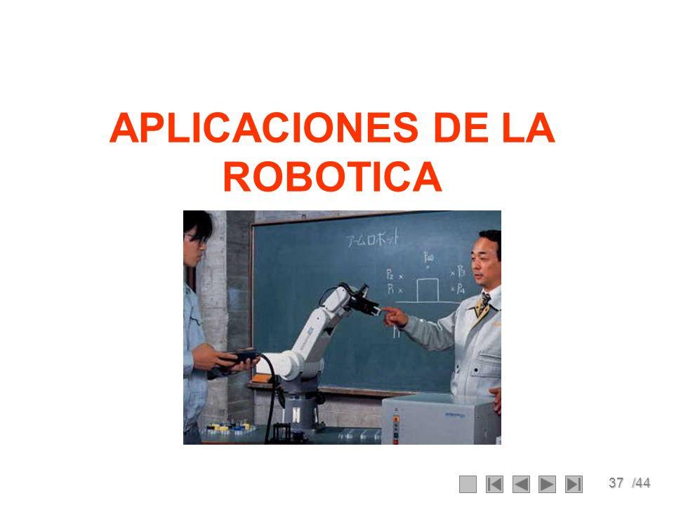 37/44 APLICACIONES DE LA ROBOTICA