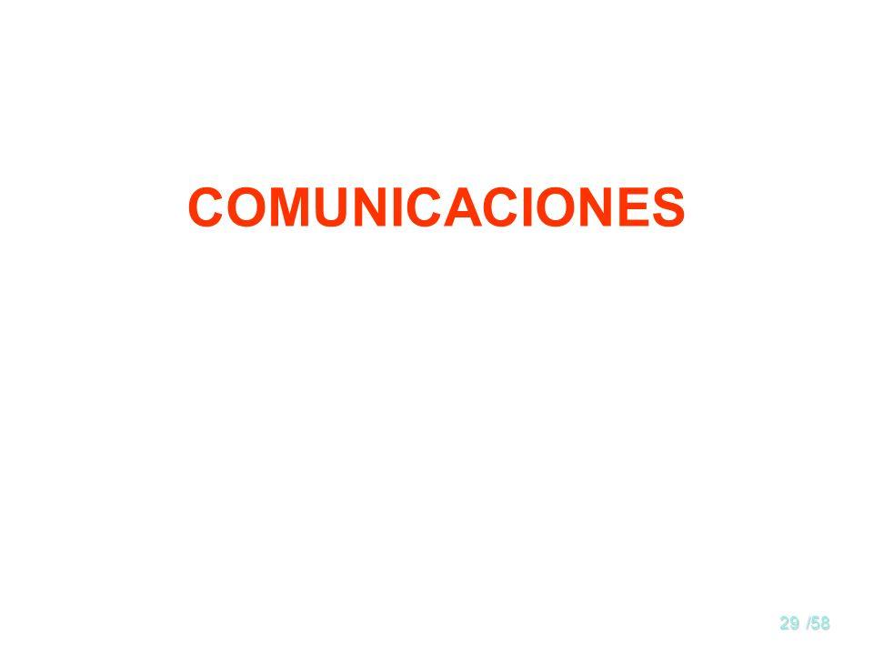 28/58 Internetworking Se denomina así a la interconexión de redes diferentes Las redes pueden diferir en tecnología (p. ej. Ethernet- Token Ring) o en