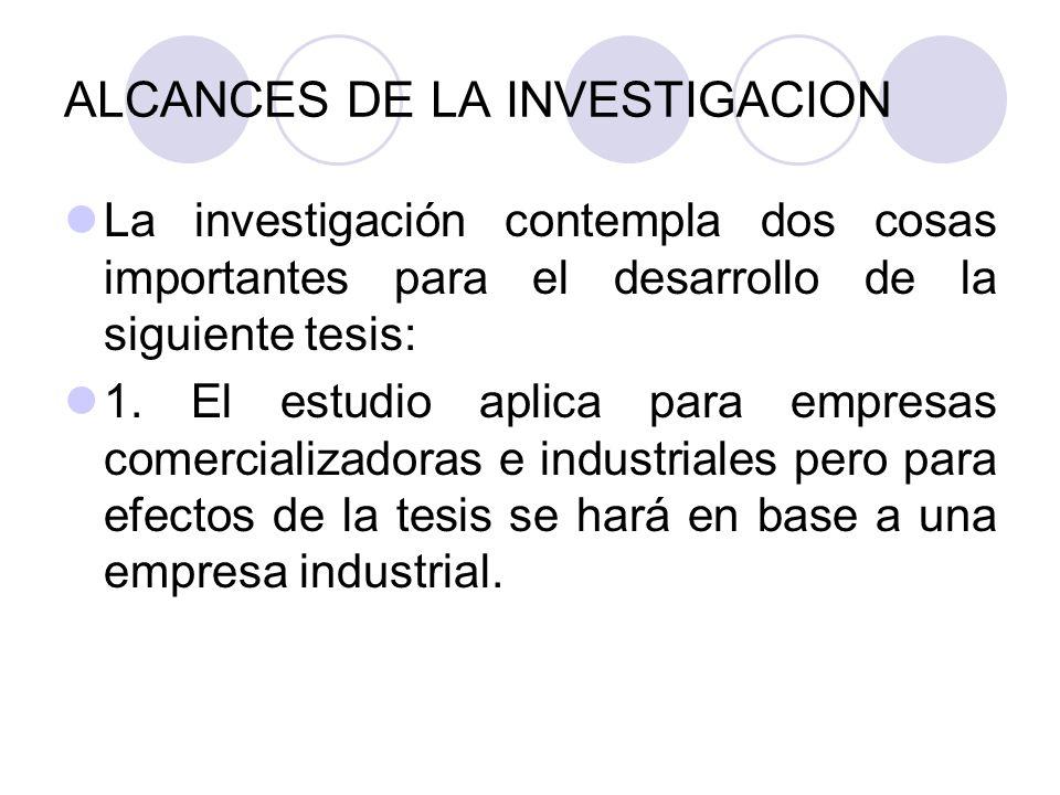 LIMITACIONES DE LA INVESTIGACION 1.