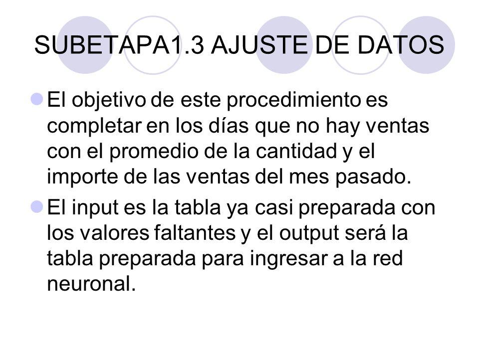 SUBETAPA1.3 AJUSTE DE DATOS