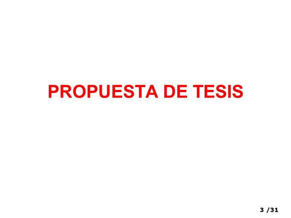 3/31 PROPUESTA DE TESIS