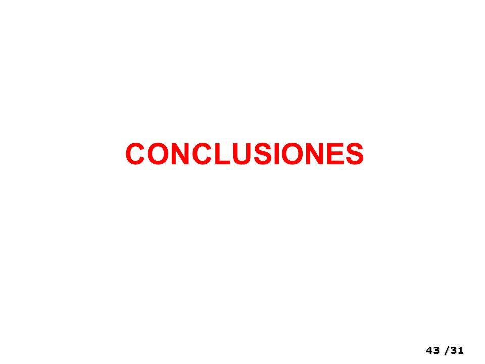 43/31 CONCLUSIONES