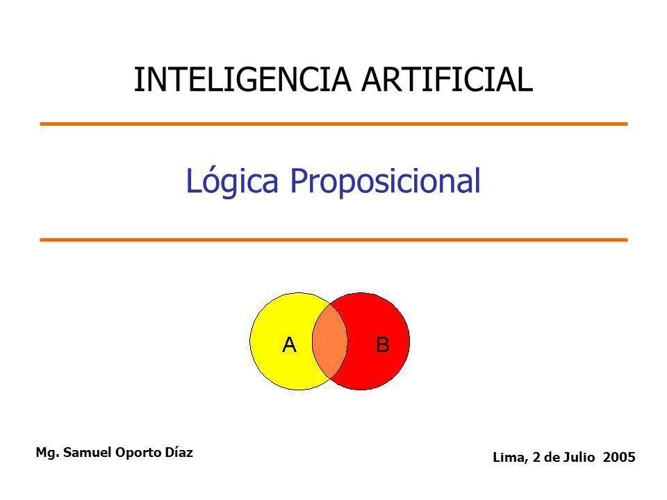 2/42 Tabla de Contenido 1.Lógica Proposicional.Lógica Proposicional.