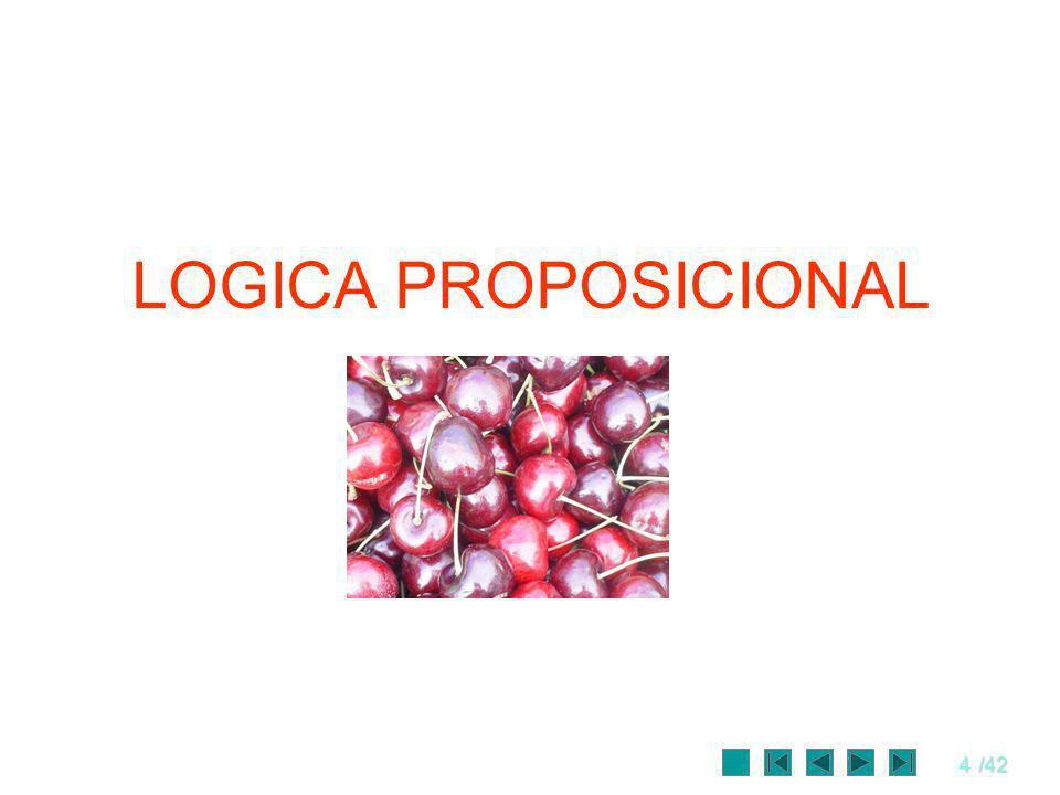 5/42 Lógica Proposicional Llamada de lógica de enunciados o lógica de orden 0, no tiene, por sí misma, mucha utilidad para la representación del conocimiento.