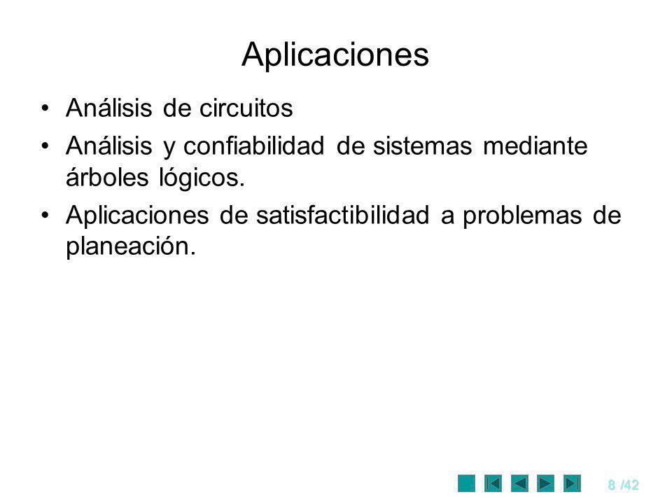 9/42 Sintaxis y Semántica Sintaxis Conjunción (Λ).
