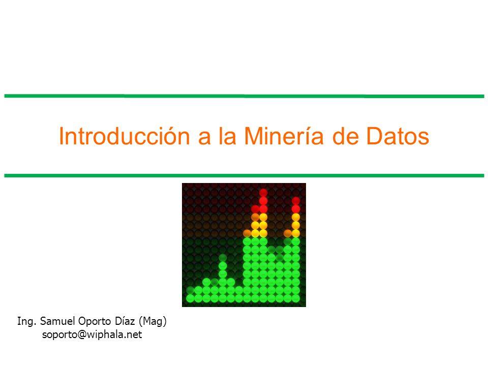 Introducción a la Minería de Datos Ing. Samuel Oporto Díaz (Mag) soporto@wiphala.net